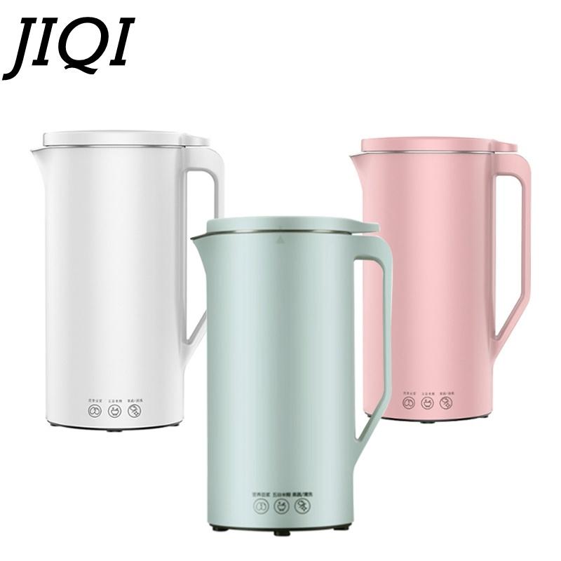 JIQI 350ML Automatic Soy Milk Machine Mini Fruit Maker Juicer Vegetable Extractor Food Blender Filter Free For Soybean 110/220V