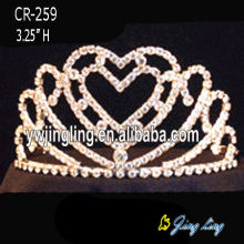 Rhinestone Heart Crowns Crystal Wedding Tiaras