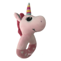 Plush Pink Unicorn Rattle