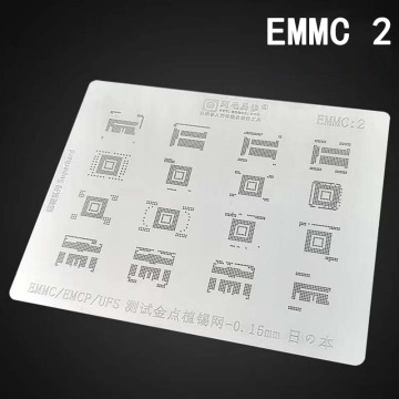 Japan Steel BGA Stencil for BGA EMCP/EMMC IC chip Reballing Planting Tin Net Repair Tools