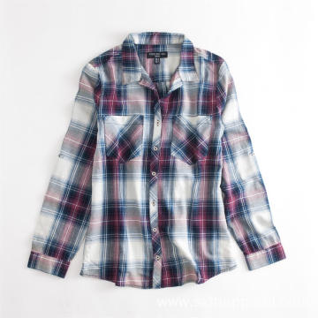 Men's Plaid Spring Autumn Casual Long Sleeve Shirts