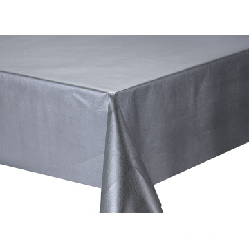 Solid Embossed Fabric Tablecloth Outdoor Table Cover