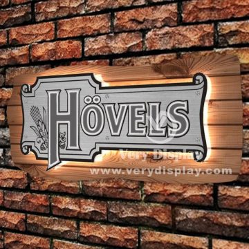 Hovel metal light sign