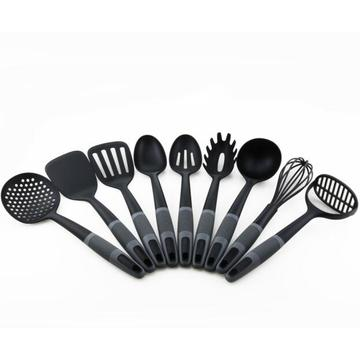 9PCS Heat Resistant Nylon With PP Handle Utensils