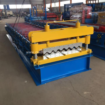 Metal wall sheet roof panel roll forming machine