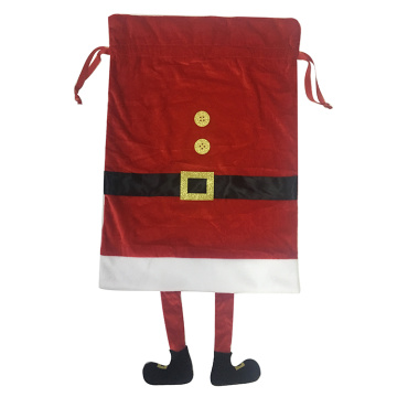 Santa Sack With Dangling Leg Red Velvet