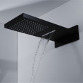 Rain and Waterfall Shower Head Thermostatic Faucet Set