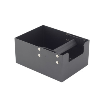 Coffee Ground Knock Box with Black Handle