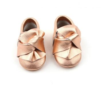 Latest Design Kids Shoes Leather Baby Moccasins