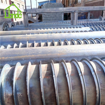 Galvanized deep foundation ground piles
