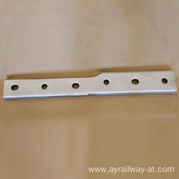 Carbon steel rail fish plate for railway