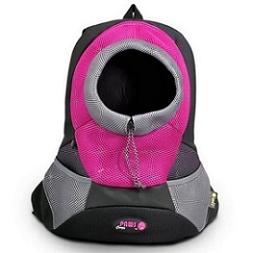 Lilac Large PVC and Mesh Pet Backpack