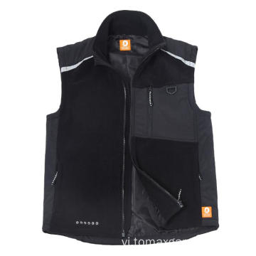 100% polyester microfleece Vest 320gsm