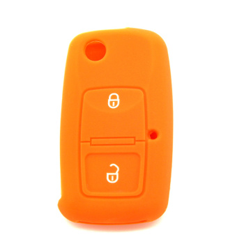 VW 2 buttons smart silicone car key cover