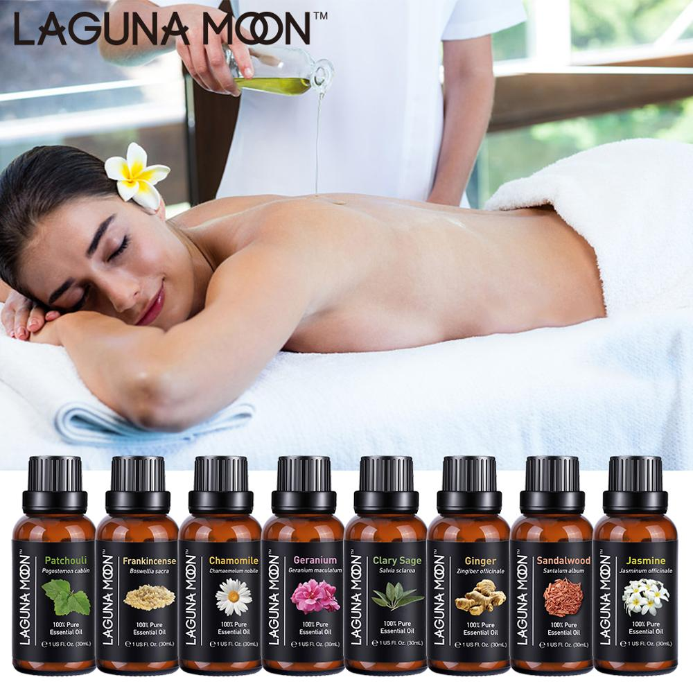 Lagunamoon 30ML 1OZ Pure Essential Oils Tea Tree Thyme Vanilla Vetiver Ylang Massage Humidifier Oil Essential Ship From US