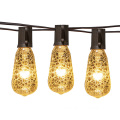Silver Crackled ST40 Incandescent String Light