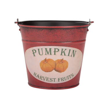 Pumpkin Decorated Celebrate Tin Bucket