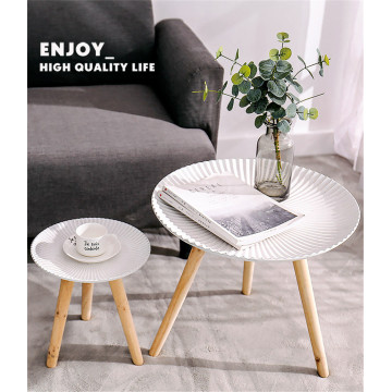 Modern Simple Nardic Wooden  Tea Table