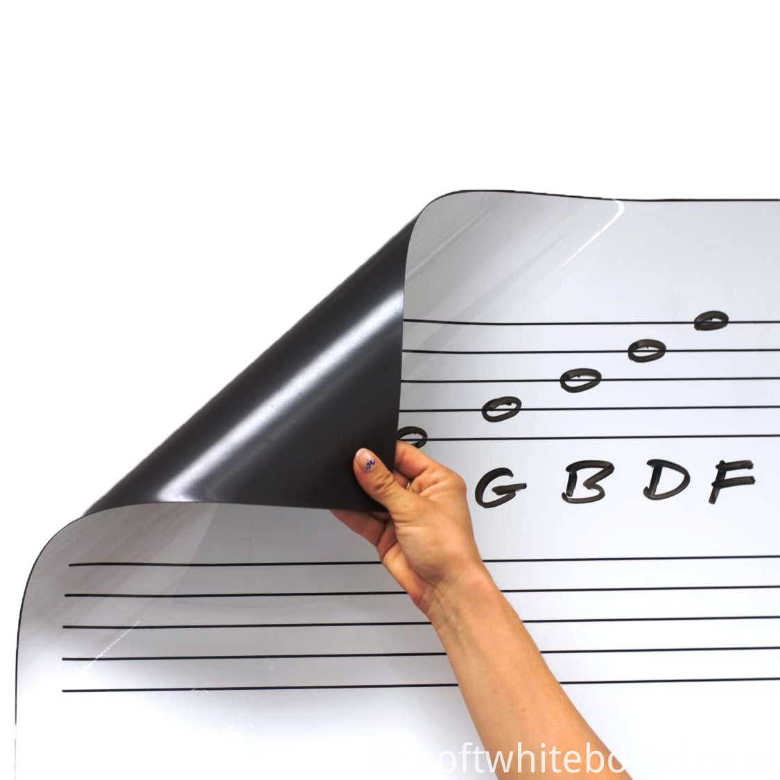 Roll Up Dry Erase Music Staff Magnet 3
