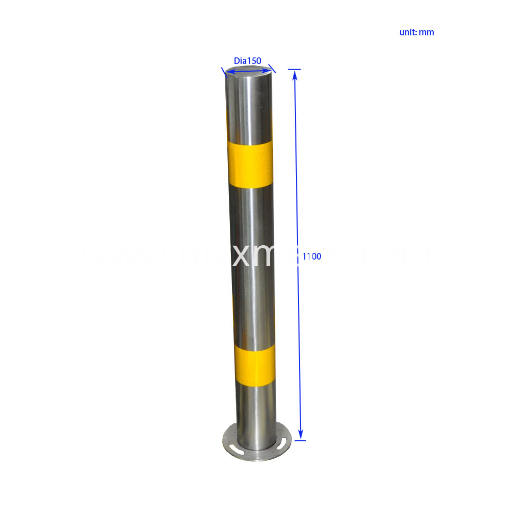 SWT0008 Stainless Steel Parking Bollard Size