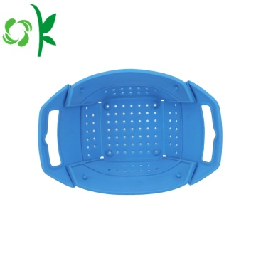 Silicone Vegetable Grocery Fruit Basket Folding Basket