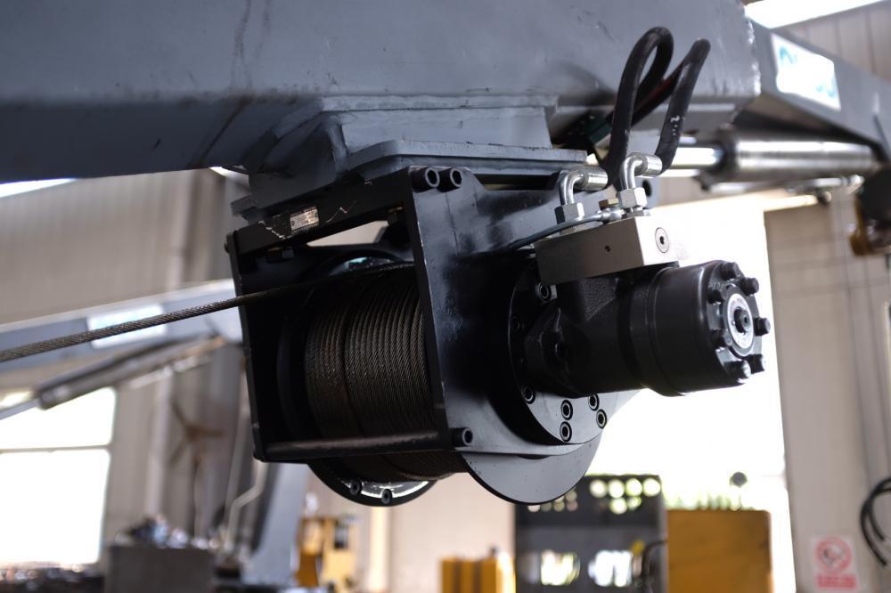 11KW Marine Telescopic Boom Portable Hydraulic Crane 1.5T6M