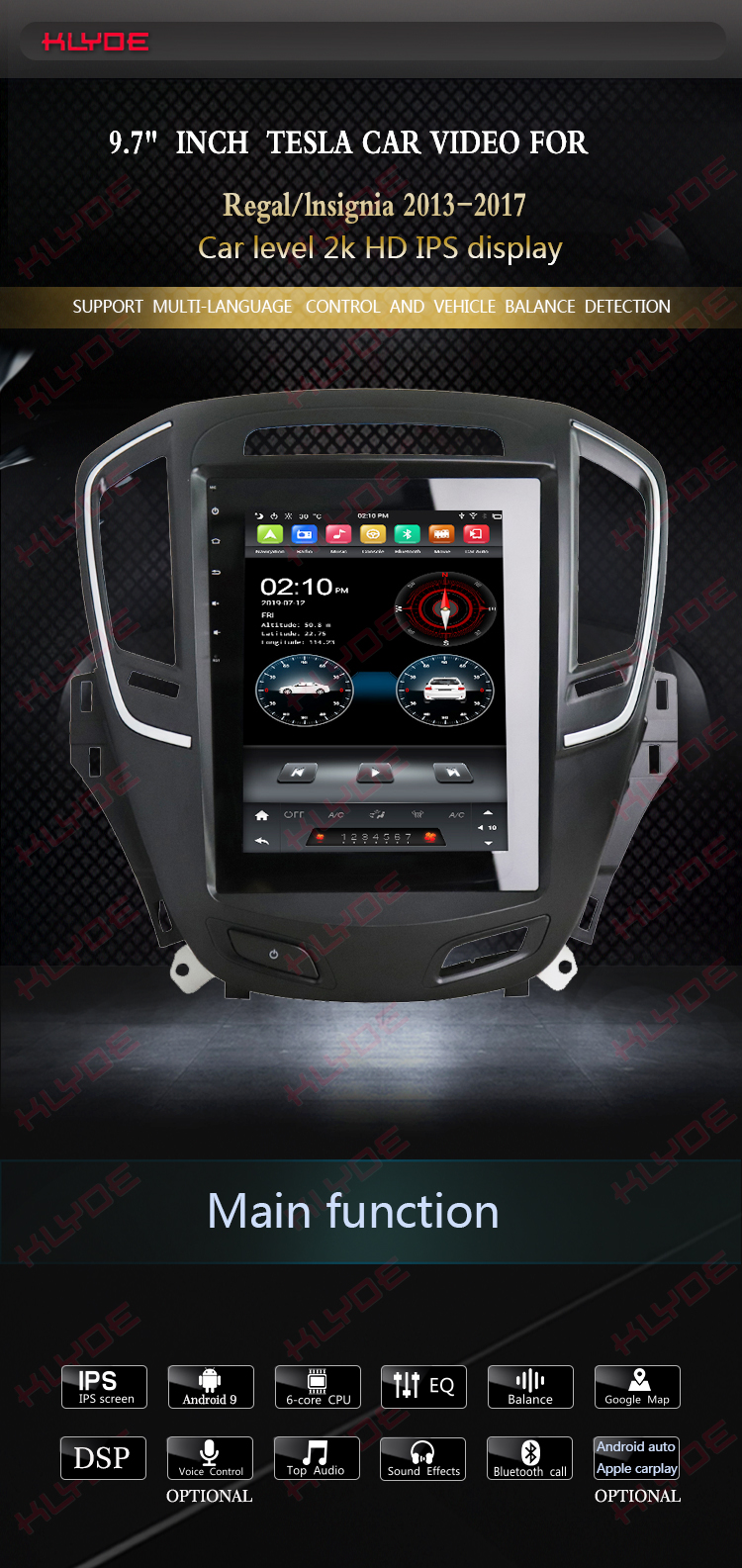 android radio for Opel Regal/lnsignia 2017