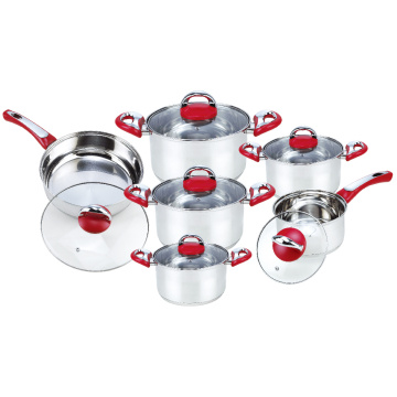 Pot Set with Frypan in Glass Lid
