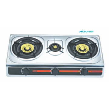 3 Burners Stainless Steel Gas Cooktop