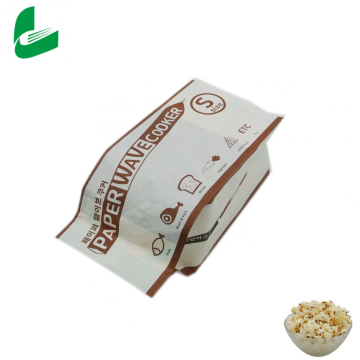 Customized printing microwave popcorn waterproof greaseproof kraft paper bags for food packaging
