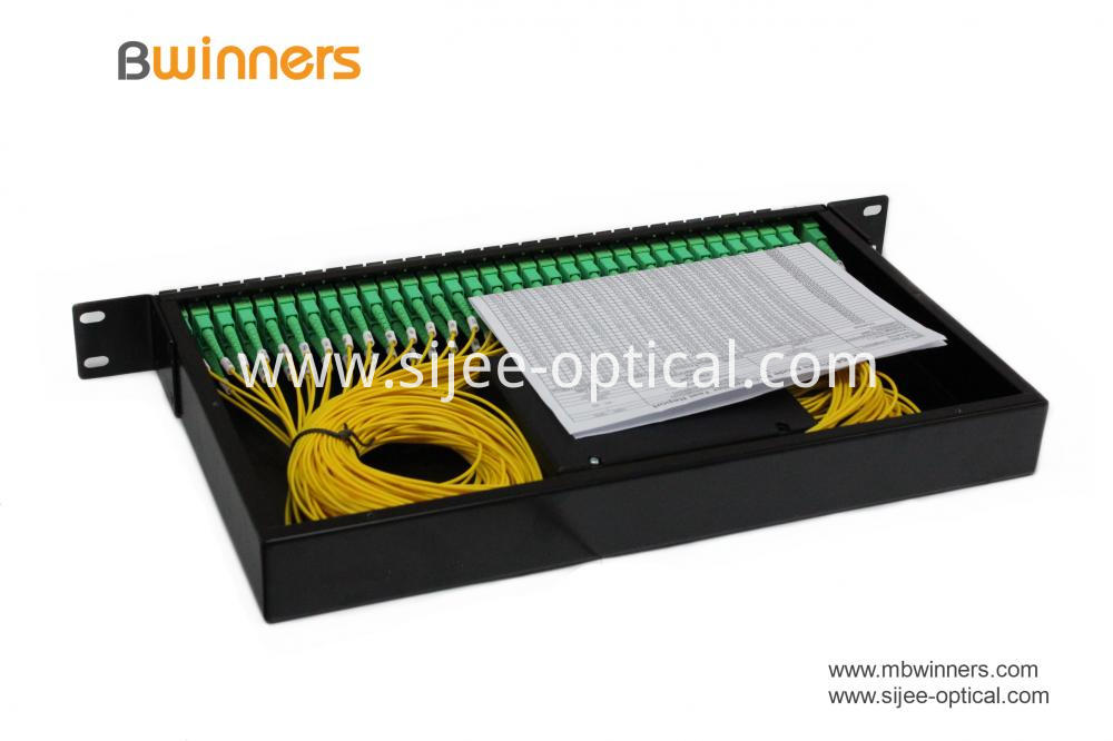 Rack Mount 2x64 Plc Splitter With Sc Apc Connector 2
