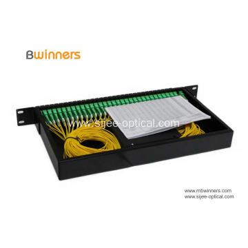 1x64 PLC Fiber Optical Splitter 1U Rackmount