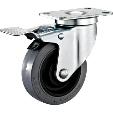 2.5inch Swivel Anti-static TPR Castors With Top Brake