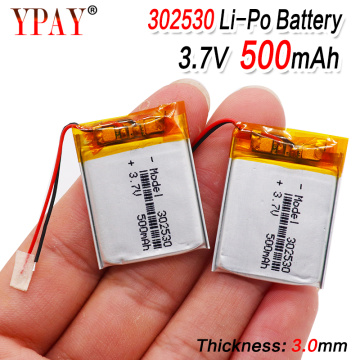 1/2/4pcs battery Size 302530 3.7V 500mah Lithium polymer Battery with Protection Board For MP4 Digital Products