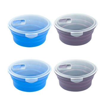 BPA free lunch box Food grade silicone foldable lunch box
