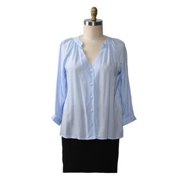 Autumn V Neck Office Plus Size Women Blouses