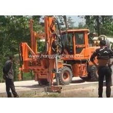 Mobile Road Guardrail Drilling Machine