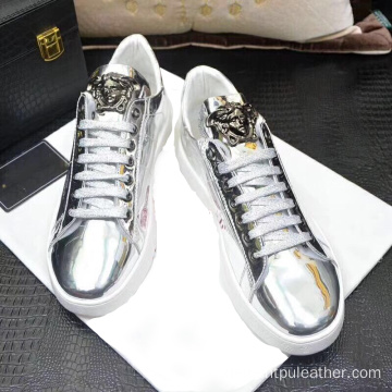 mirror tpu colorful pu leather for making shoe