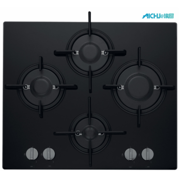 Hotpoint 4 Burner Gas Hob Black Ceramic Hob