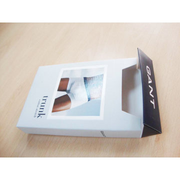 Men Underwear Coated Paper Box With Clear Window