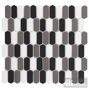 Multicolor Black And White Glass Mosaic Tile