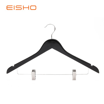 Wooden Suit Hangers With Clips EWH0055-P66