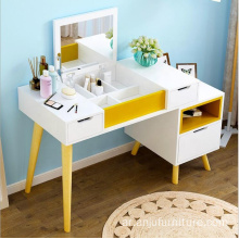 Home furniture mirrored wooden wardrobes with dressing table