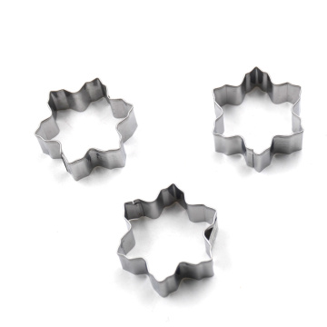 Stainless Steel Snowflake Shape Cookie Cutter Set