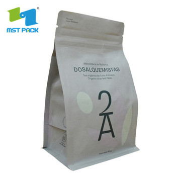 Sealed Custom Kraft Coffee Pouch With Logo Design