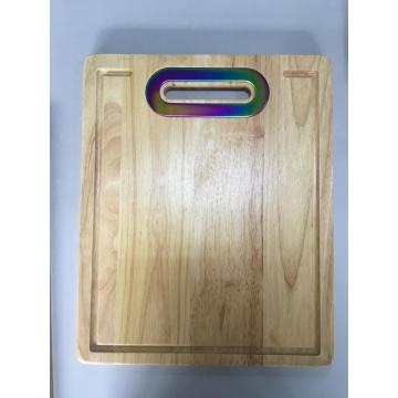 wood chopping board with handle