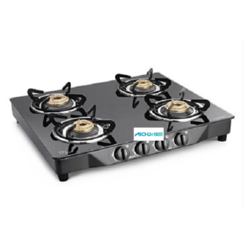 Euro 4 Burner Toughened Glass Stove