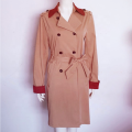 High Quality European Flowing Double Breasted Trench Coat