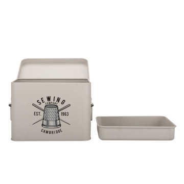 Vintage Metal First Aid Tin Box With Dividers