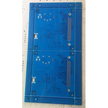 4 layer blue solder PCB with 3.5mil trace